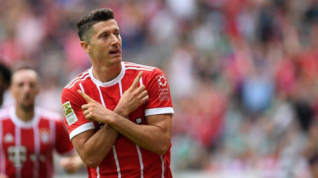 Lewandowski scores twice against Werder as Bayern win again