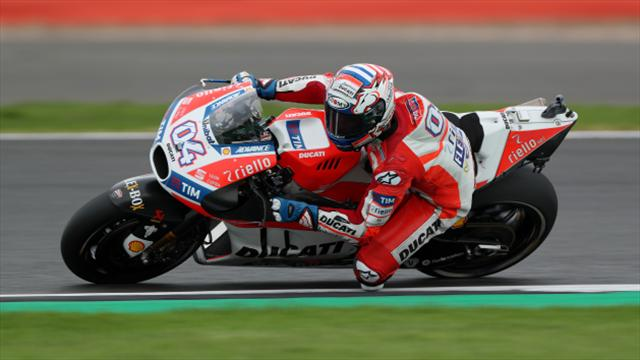 Dovizioso fastest, Marquez crashes in Japan