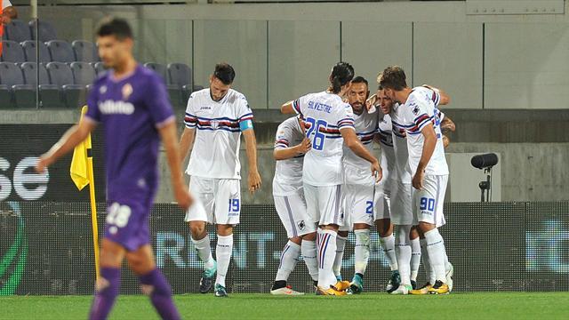 Show di Quagliarella, tripletta alla Fiorentina nel trionfo della Sampdoria