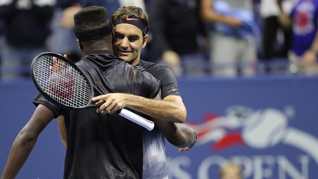 Federer outlasts teenager Tiafoe in five-set epic