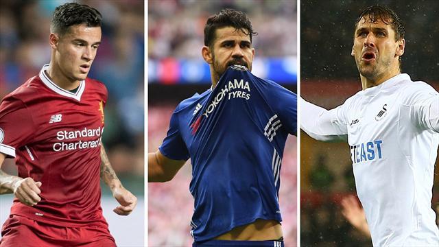 Coutinho, Costa y Fernando Llorente, los nombres del día