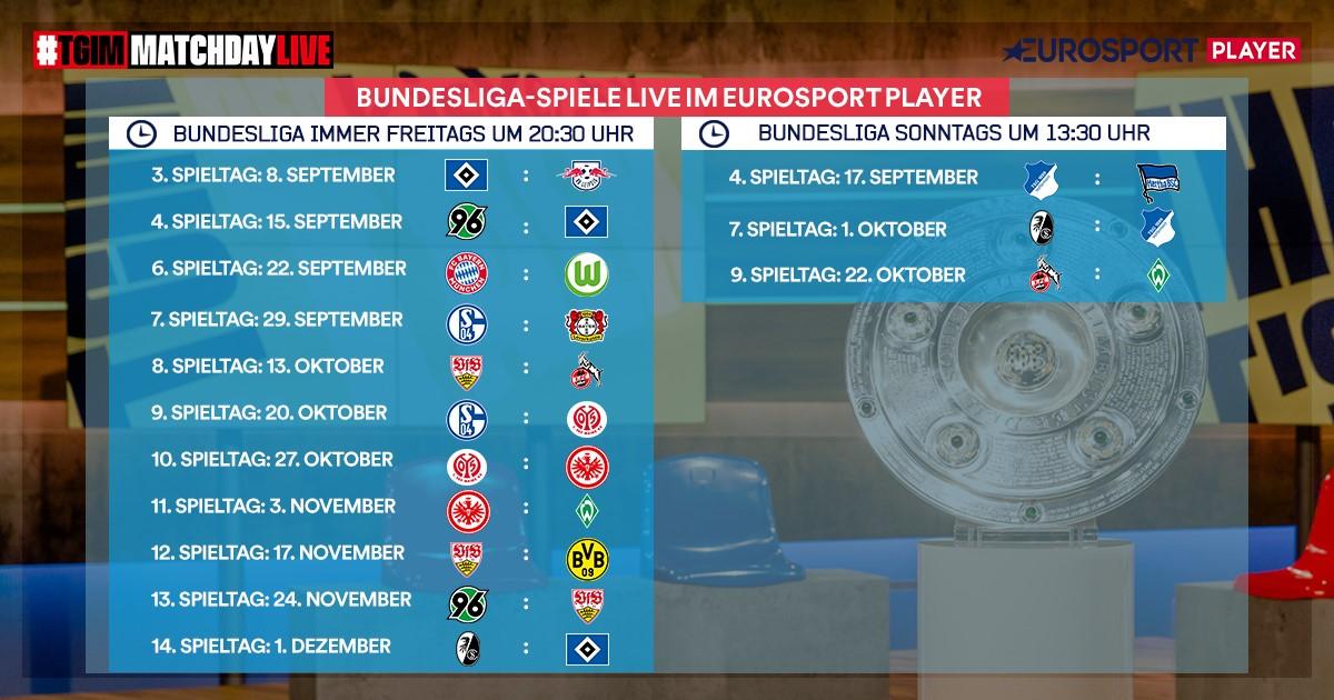 Die Bundesliga LIVE im Eurosport Player