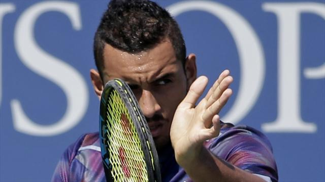 Image result for US Open: Kyrgios eliminates after right shoulder injury