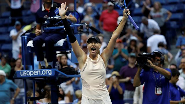 Sharapova digs deep to beat Babos in three sets