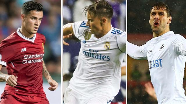 Coutinho, Marcos y Fernando Llorente, los nombres del día