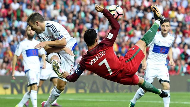Роналду, забив 14-й гол вотборе кЧМ-2018, повторил рекорд Миятовича