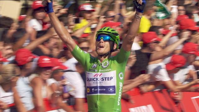 Мощный финиш Трентина, с удовольствием выигравшего уже третий этап на «Вуэльте»