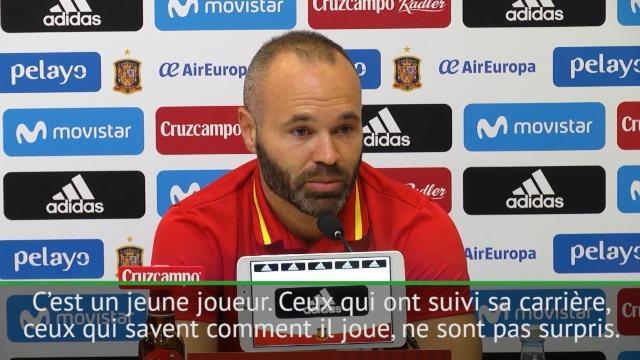 Iniesta : «Asensio ? C'est une excellente nouvelle pour l'Espagne»