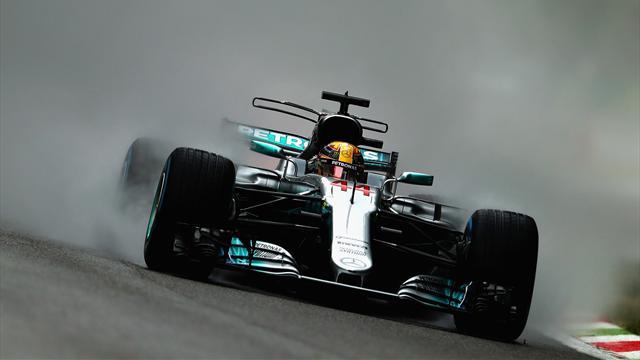 Qualifiche eterne sotto la pioggia! Primo Hamilton davanti a Stroll e Ocon, Ferrari male