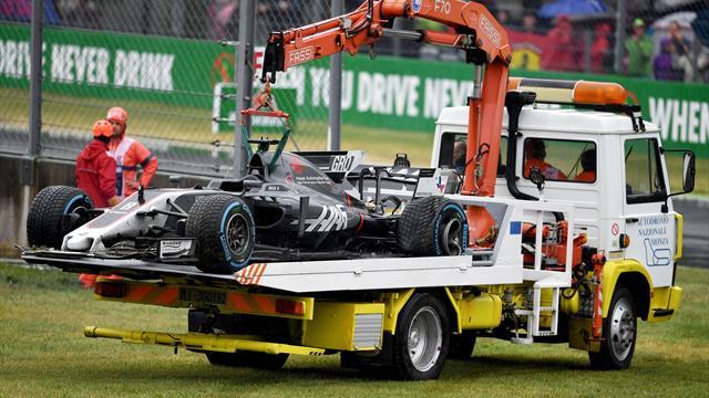 Gran Premio de Malasia: El aparatoso accidente de Grosjean marca los libres con un buen Alonso