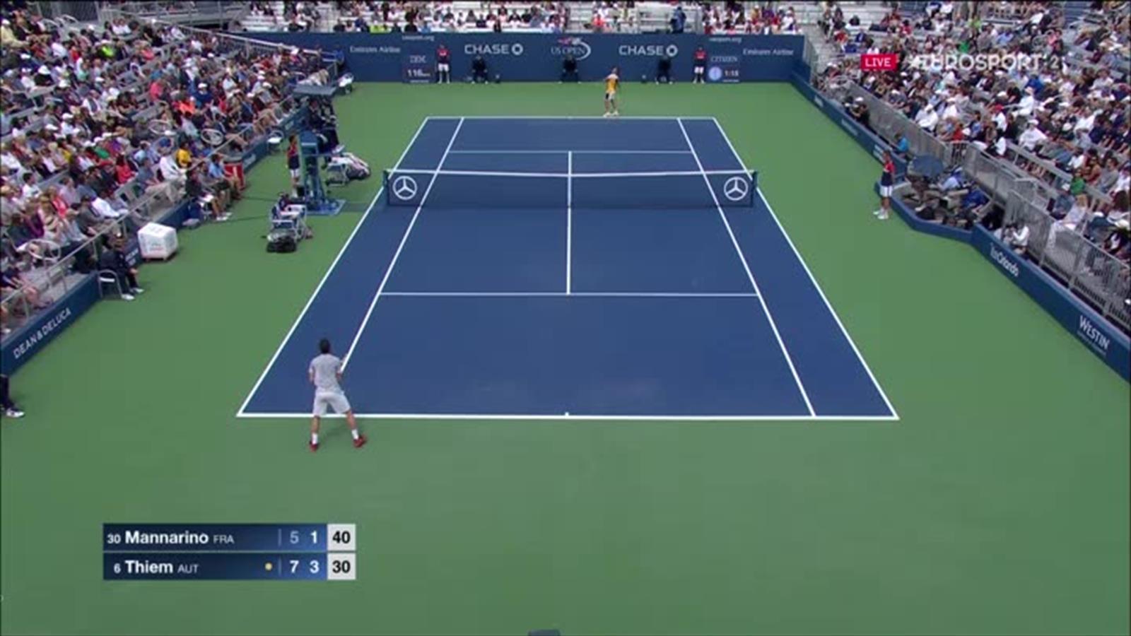 Video tr s inspir s mannarino et thiem ont sorti un - Calculateur de point tennis de table ...