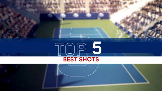 Top 5: Best shots from Nadal v Anderson