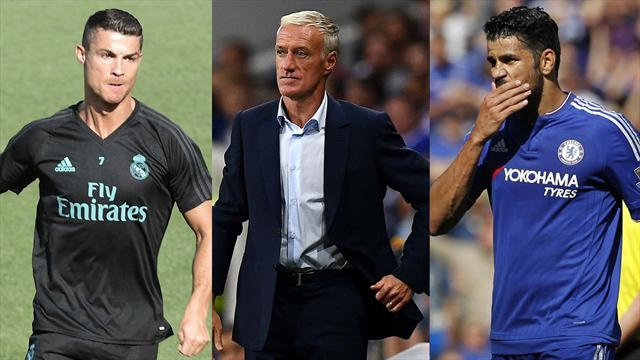 Cristiano Ronaldo, Deschamps y Diego Costa, los nombres del día