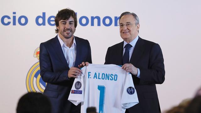 Fernando Alonso fue nombrado socio de honor del Real Madrid