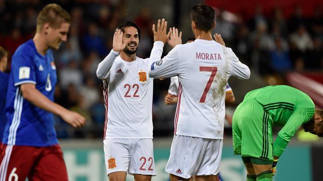 Goleada escandalosa de España ante Liechtenstein para seguir líder de grupo (0-8)