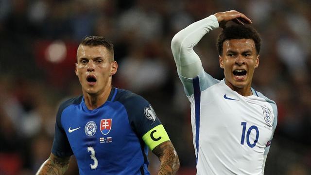 Алли дисквалифицирован на 1 матч сборной за средний палец в матче против Словакии