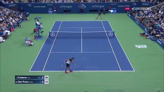 'Crushing blow!' – Juan Martin del Potro forehand rips past Roger Federer