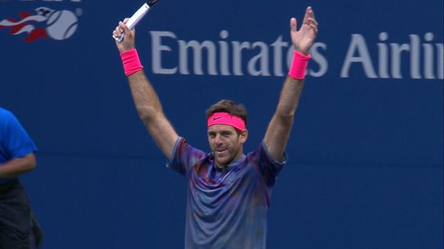 Highlights: Juan Martin Del Potro stuns Roger Federer in four sets