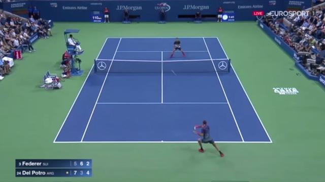 Maestro entzaubert: Del Potros Vorhand-Geschosse lassen Federer verzweifeln