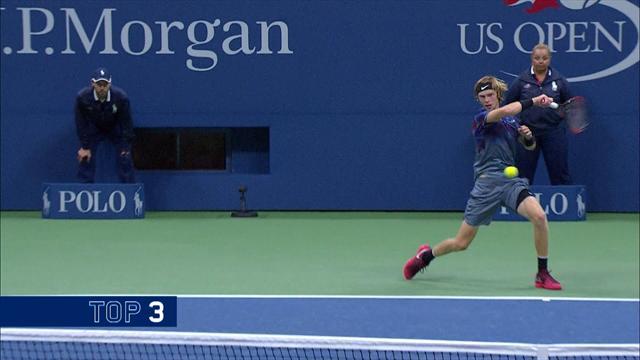 Top-5-Punkte: Unfassbarer Winkel! Rublev kontert Nadal