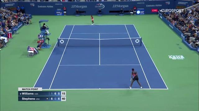 Match point: Sloane Stephens upsets Venus Williams