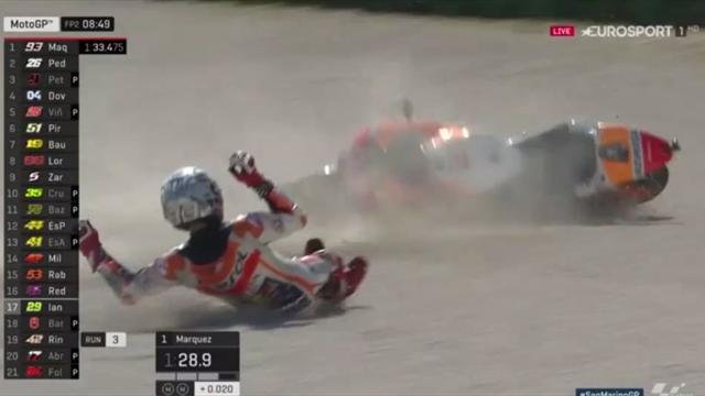 Weltmeister Márquez fliegt von der Strecke