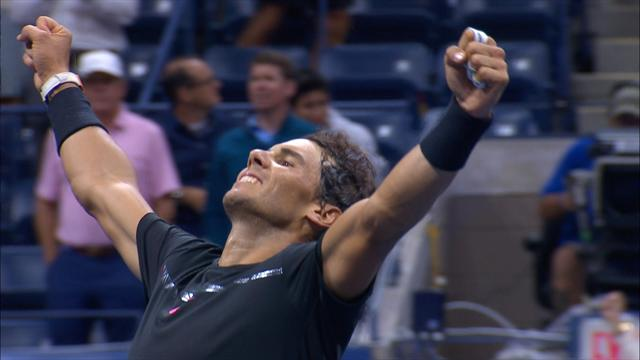 US Open Highlights: Nadal beats Del Potro in thriller