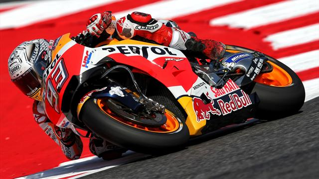 Marquez rebounds from Friday crash to top FP3