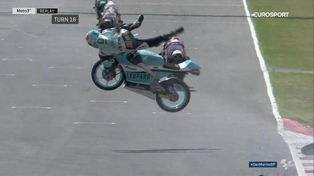 Moto 3 : Loi a fait un vol plané à la fin de la qualification