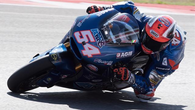 Moto2, Mattia Pasini cala il poker davanti a Morbidelli
