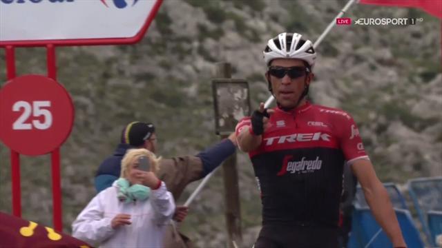 I momenti chiave della 20^ tappa: cadute e l'Angliru non fermano l'epica ascesa di Contador