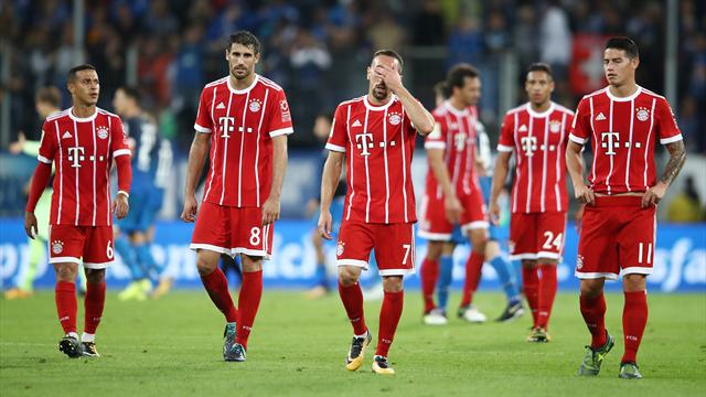 Bayern fall to shock defeat at Hoffenheim
