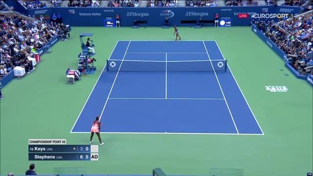 US Open 2017: il punto decisivo e l'abbraccio, Sloane Stephens trionfa a Flushing Meadows