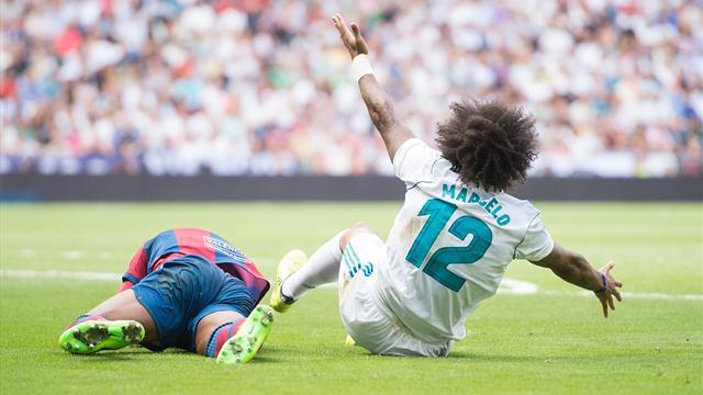 Dos partidos de sanción a Marcelo, que se perderá los partidos ante la Real Sociedad y el Betis