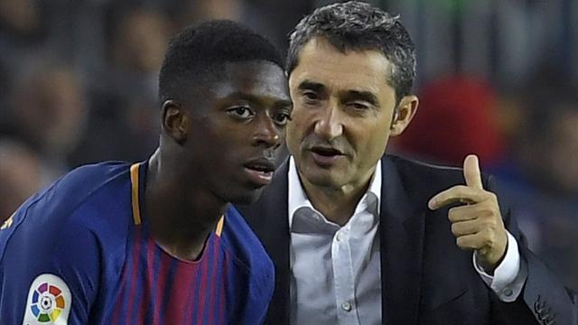 """Valverde : """"Dembélé a besoin de temps"""""""