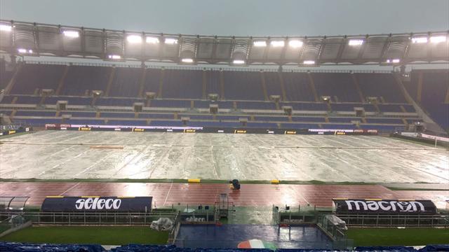Lazio - Milan repoussé d'une heure à cause de la pluie