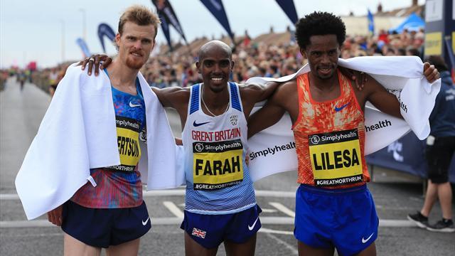 Farah wins fourth Great North Run