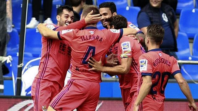 La Real Sociedad y el FC Barcelona, líderes en España