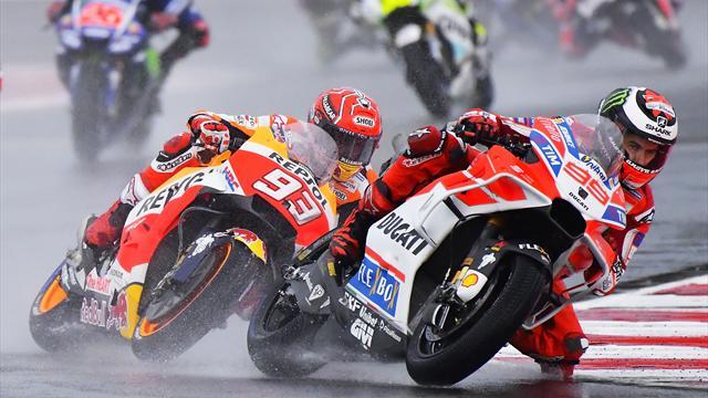 Lorenzo s'est vu trop beau, Marquez a attendu son heure : le résumé de la course en vidéo