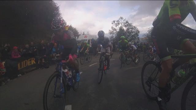 Onboard am Angliru: Durchs Dunkel zum Gipfel