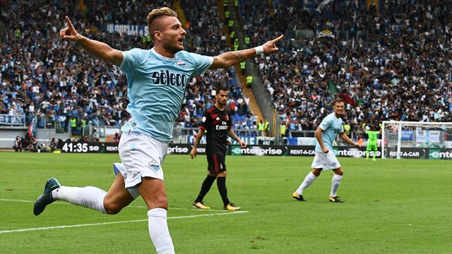 Immobile hat-trick destroys Milan's perfect record