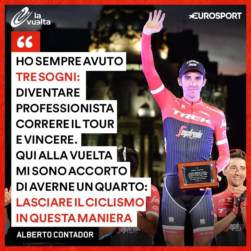 L'addio di Alberto Contador al ciclismo