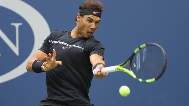 US Open: Mit Auge! Klasse Passierball von Nadal