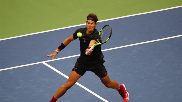 US Open 2017: Nadal consigue el break con un remate espectacular