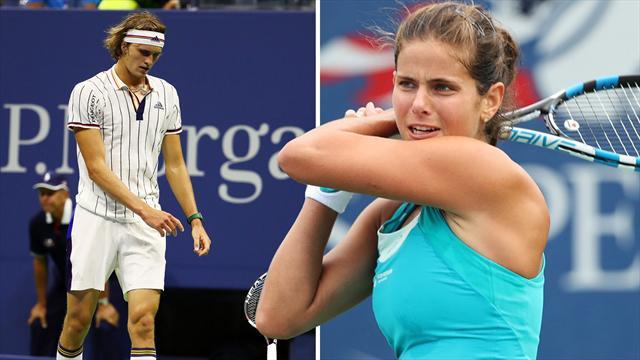 Pleiten und Achtelfinal-Freude! So liefen die US Open für Zverev, Kerber, Görges und Co.