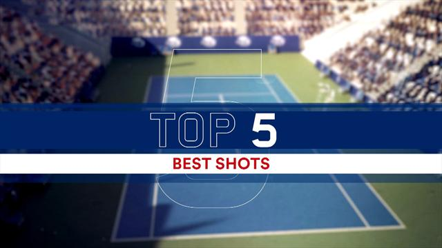 Top 5 Shots at US Open (women): Stephens features THREE times