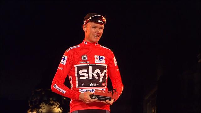 Froome puts on THREE jerseys after Vuelta triumph