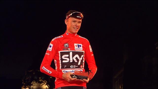 Trikot Hattrick! Dominator Froome feiert seinen Vuelta-Erfolg