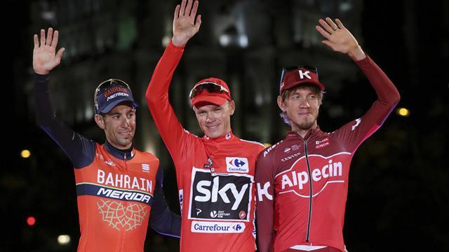 Chris Froome face dubla Tour / Vuelta, sărbătorind un succes istoric la Madrid