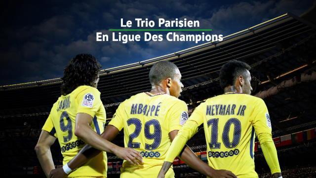 Avec Neymar, Cavani et Mbappé, le PSG a un trio de feu pour la C1